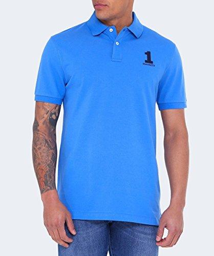 HACKETT LONDON Herren Poloshirt New Classic Azurblau