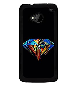 Colourful Diamond 2D Hard Polycarbonate Designer Back Case Cover for HTC One :: HTC One M7