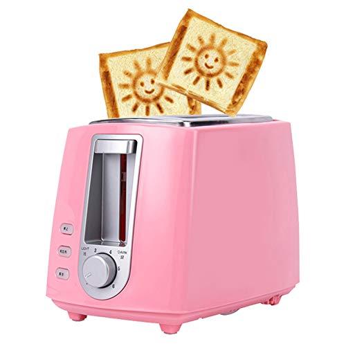 Machine à pain de 2 grille-pains Tranches sourire motif 6 vitesses,Rose
