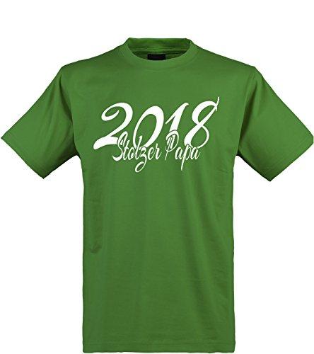 Team Papa T-shirt (Klamottenkiste24 Herren T-Shirt, Stolzer Papa 2018, grün, Gr. XL)