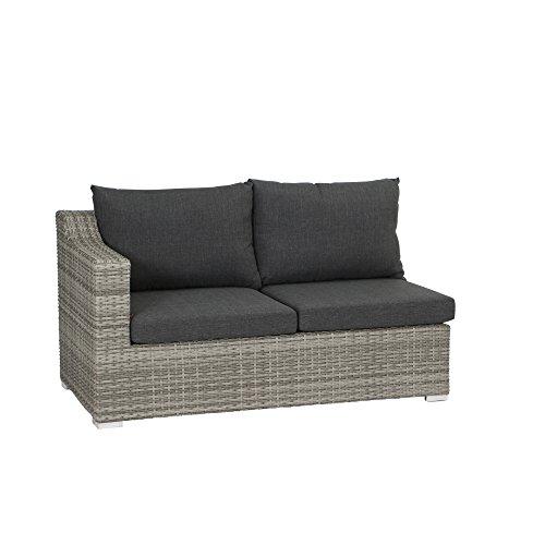 Siena Garden 508497 Navaro 2er Sofa, Modul Armlehne links, Sigra, 149x81x77 cm