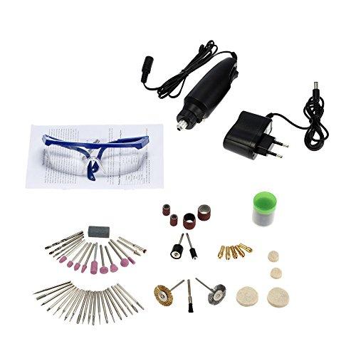 KKmoon 30W Mini Smerigliatrice, 87 Pezzi Set Elettrico di Macinazione Electric Grinding per Fresatura / lucidatura / Foratura / Taglio/ Incisione, Kit di lucidatura DIY