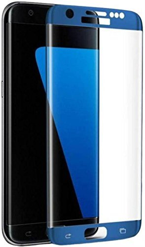 High Quality 9H Hardness Curved Coloured Tempered Glass Screen Protector for Samsung Galaxy S7 Edge ( Blue Coral )