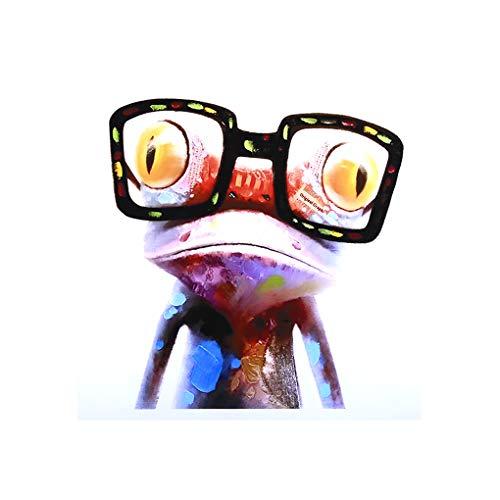 Chunyang Bunter Frosch mit Brille, die abstrakten Tierwand-Kunst Moderne auf Polyester-Druck für Home Decoration