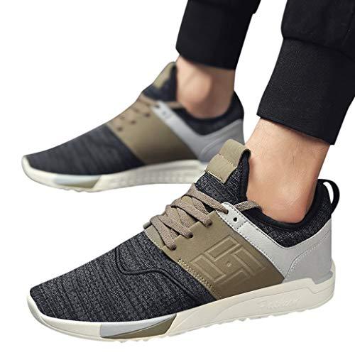 TianWlio Sportschuhe Herren Sneaker Outdoorschuhe Herren Mesh Atmungsaktive Kleidung Beständige Sneakers Modus Wildes Licht Beiläufig Schuhe Schwarz Grau Braun 39-44