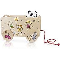 e5af524b9e0 Dida - Carretto in legno trainabile porta oggetti e giochi per bambini.  Decoro Bimbi.