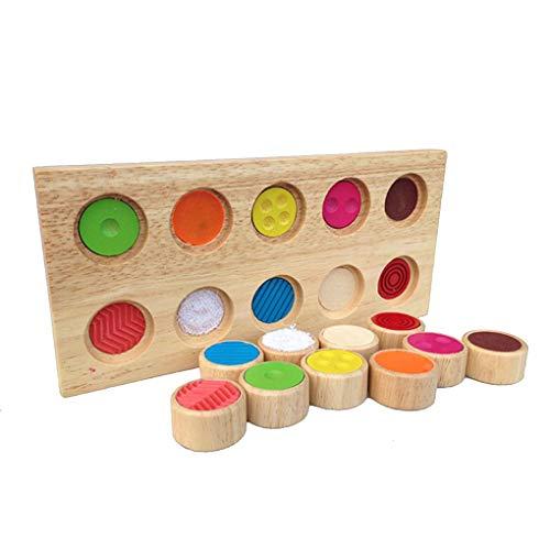 Ben-gi Kinder Memory Touch-Flap-Baby-Holz Flip Brett Bunte Blöcke Spielzeug Kinder pädagogisches Spielzeug Lernhilfen