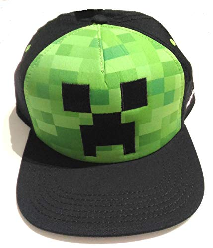 Bioworld Minecraft Kappe Creeper Face Snapback Cap für Jungen und Jugendliche