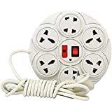 #6: Extension Board with 8 Plug Points | Copper Wiring | Suitable for Every Basic Need at Home and Office | 6 Amp Multi Plug Point Extension Cord with Led Indicator and Universal Socket (White)