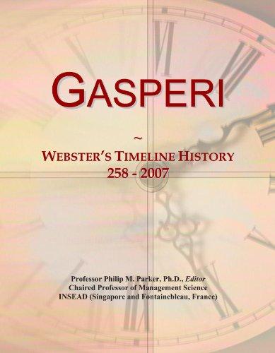Gasperi: Webster's Timeline History, 258 - 2007