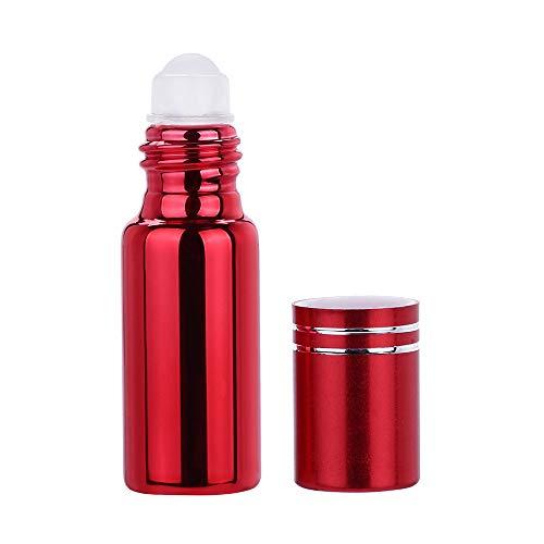Flacon Vide,5 ml Portable Vide Rechargeable Roll on Roller Ball Bouteilles en Verre Flacon pour Parfum Huile (B)