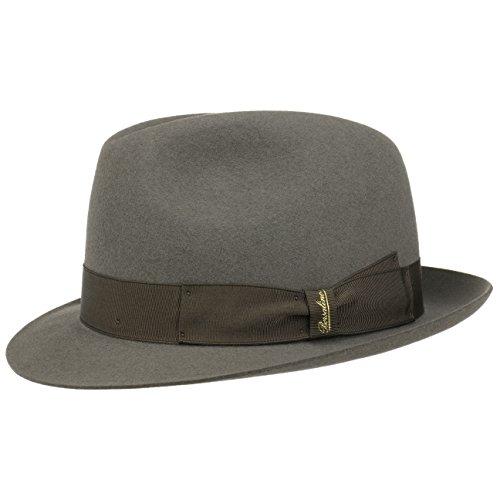 Borsalino Cappello Marengo Fedora feltro pelo 59 cm - grigio