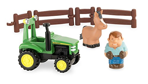 Tomy 43067 - John Deere Prima Little Farm - divertimento con il trattore, giochi per bambini