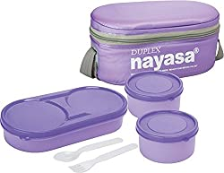 NAYASA DUPLEX 3 Containers Lunch Box