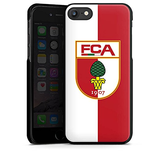 Apple iPhone X Silikon Hülle Case Schutzhülle FC Augsburg Fanartikel Fussball Hard Case schwarz