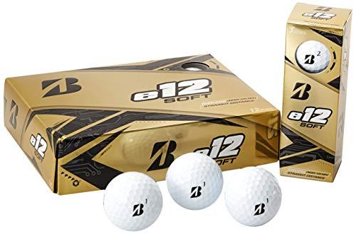 Bridgestone Golf E12 - Palline da Golf morbide (Una dozzina), Uomo, e12 Soft White, Infradito Colorati Estivi, con finte Perline