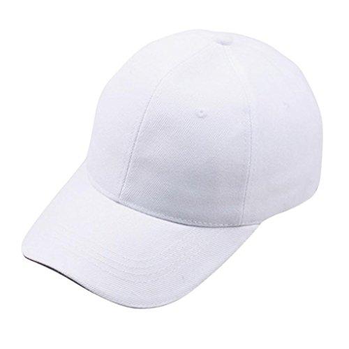 Bovake Frauen-Baseballmütze-Hysteresen-Hut Hip-Hop justierbar (White) (Einstellbare Hut Basic Logo)