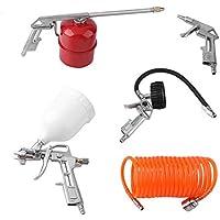 5 PCS Professional Compressed Air Set Manual Paint Spray Gun Auto Car Detail Painting Kit Compressor Accessories