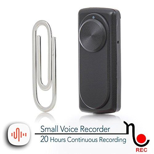 Kleinster Diktiergerät 20 Stunden kontinuierliche Aufnahme | 141 Stunden Kapazität auf 8Gb | Ein-Knopf-Bedienung | nanoREC von aTTo digital