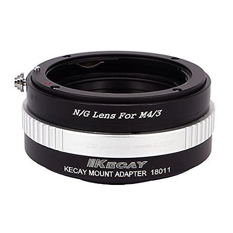 KECAY® Objektiv Adapter Ring Nikon G-type DX AFS Objektiv auf Micro 4/3 M4/3 Four Thirds System Kamera Lumix G1 G2 G3 G10 GX1 GH1 GH2 GF1 GF2 GF3 GF5 GH4 Olympus PEN OM-D E-M5