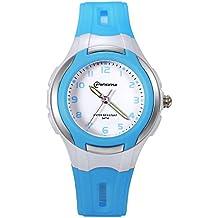 Lancardo Reloj Deportivo Analógico con Correa de Silicona Pulsera Electrónica con Agujas Noctilucentes Impermeable de 30m