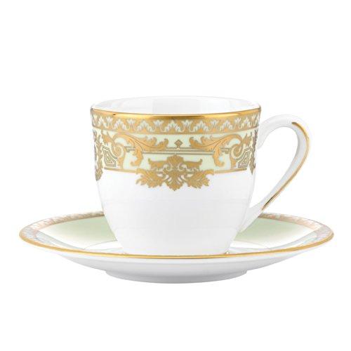 Lenox Marchesa Rokoko Leaf Espresso-Tasse und Untertasse