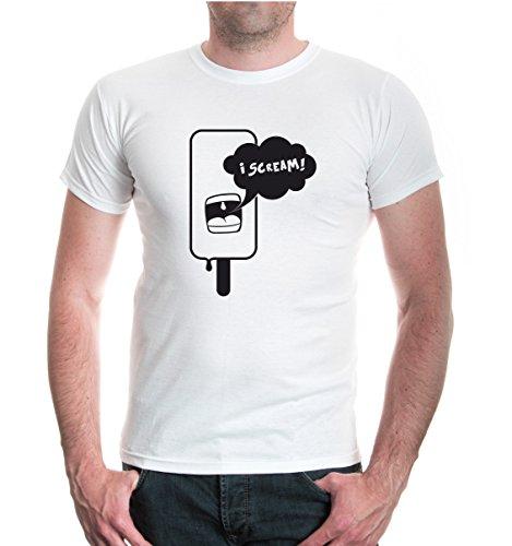 buXsbaum® T-Shirt I Scream White-Black