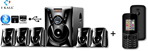 IKALL 5.1 Channel Bluetooth Multimedia Home Theater System with K12 Basic Mobile (Black)
