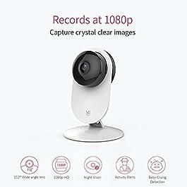 YI Camera IP Telecamera di Sorveglianza Wireless 1080p (Kit da 4) – Videocamera di Sicurezza da Interno WiFi Full HD – Confezione Formato Famiglia da 4 -Servizio di Archiviazione in Cloud Disponibile