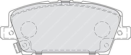 confezione 4 pezzi Ferodo FDB1859 Freno A Disco - Premier Kit Pastiglie Freno