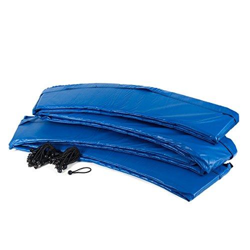 Ampel 24 Trampolin Randabdeckung, passend für Trampolin Ø 305 cm, Federabdeckung reißfest und UV-beständig, Schutzrand blau