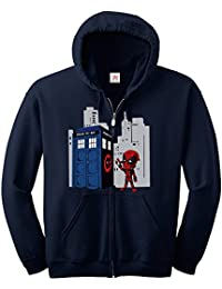 Inspired Dead graphitti spray pool tardis ZIP Hoodie plus 1 T shirt Printed Zip up hoodie