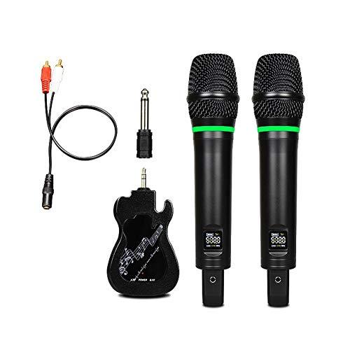 jinclonder Wireless Microphone, Universal-Handheld-Karaoke-ktv-Mikrofon für DJ-Hochzeiten mit Bluetooth-Display und kabellosem Empfänger (Dj Wireless Microphone)