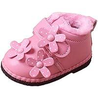 MCYs Baby Kleinkind Mädchen Jungen Blumen Winter Warme Schuhe Schneestiefel Turnschuhe Winterschuhe Boots