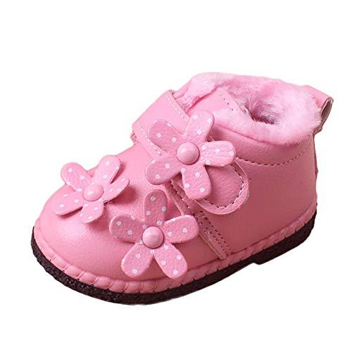 Beikoard Baby Kleinkind Schuhe Winter Kinder Plus Samt Pelz Stiefel Kurze Stiefel Sportschuhe gefütterte weiche Winterschuhe Hochzeit Party Schuhe Prinzessin Schuhe