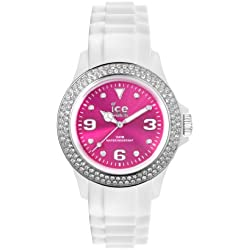 Ice-Watch Women's Quartz Watch with Pink Dial Analogue Display and White Silicone Strap IPK.ST.WPK.U.S.12