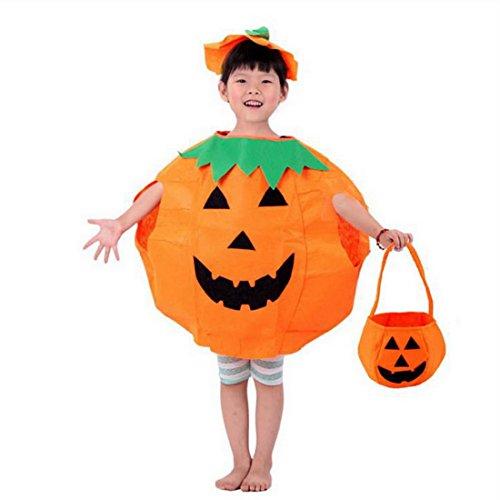 Aelegant Halloweenkostüm Erwachsene/Kind Halloween Allerheiligen Kostüm Kürbis Kostüm-Set Party Wear Unisex mit Hut