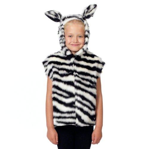 Unbekannt Charlie Crow Pelz Zebra Kostüm Für Kinder - Einheitsgröße 3-8 Jahre. (Kostüm Zebra Kinder)