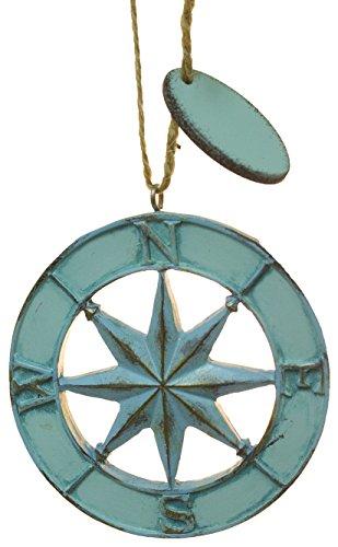 Cape Shore Kompass Rose Faux Metal Weihnachten/Alltägliche Ornament -
