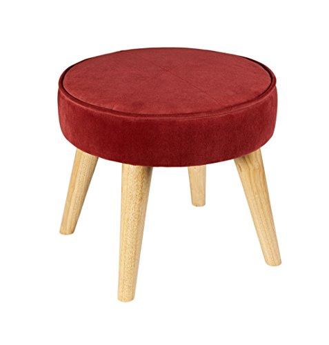 Ändern Sie den Schuhhocker Stoff Sofa Hocker Holz Fußhocker Einfache moderne Hocker Verschleiß Schuhe Kleiner Hocker Sit Pier ( Farbe : A )