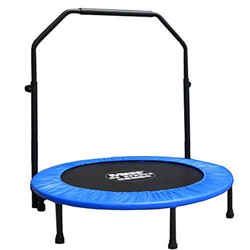 Indoor/Outdoor Fitness Trampolin, 40-Zoll-Fitnessstudio mit einem professionellen Trampolin. Aerobic-Trainingsgerät mit 3 Stufen Verstellbarer Armlehnen, Geeignet für Fitness, Gewerbe, Indoor-Heim