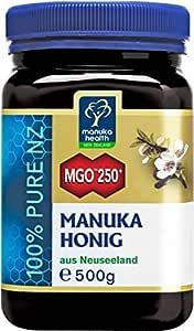 Manuka Health - Manuka Honig MGO 250+ (500 g) - 100% Pur aus Neuseeland mit zertifiziertem Methylglyoxal Gehalt