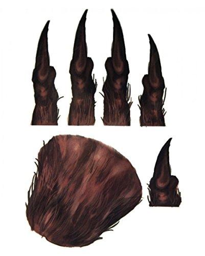 (Werwolf Handtattoo zum aufkleben als Kostümaccessoires für Halloween)
