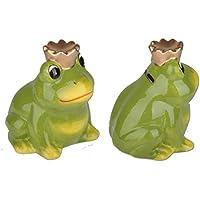 Preisvergleich für depot8 Spardose Sparbüchse Frosch mit Krone Keramik 12,5cm