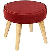 Preisvergleich für YYdy-Polsterhocker Ändern Sie den Schuhhocker Stoff Sofa Hocker Holz Fußhocker Einfache Moderne Hocker Verschleiß Schuhe Kleiner Hocker Sit Pier (Farbe : A)