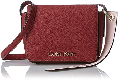 Calvin Klein Jeans Damen Ck Base Small Crossbody Umhängetasche, Rot (Red Rock), 8x14x17 cm