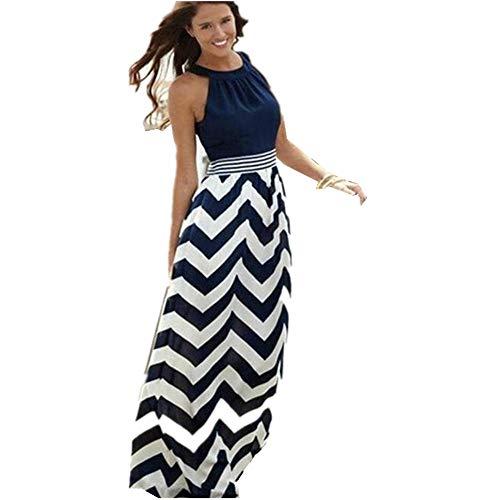 Maxikleid Floral Print BoHmischen Strand Maxi Kleid Casual M Blau01 Ausgefallene Kleider Badeanzug Tunika Extravagante Bonprix Strandkleider