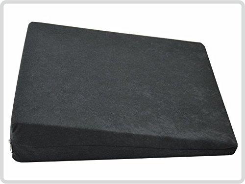 Orthopädisches Keilkissen ergonomisches Sitzkissen, Bezug 100 % Polyester – edle Samtoptik Suedine, schwarz