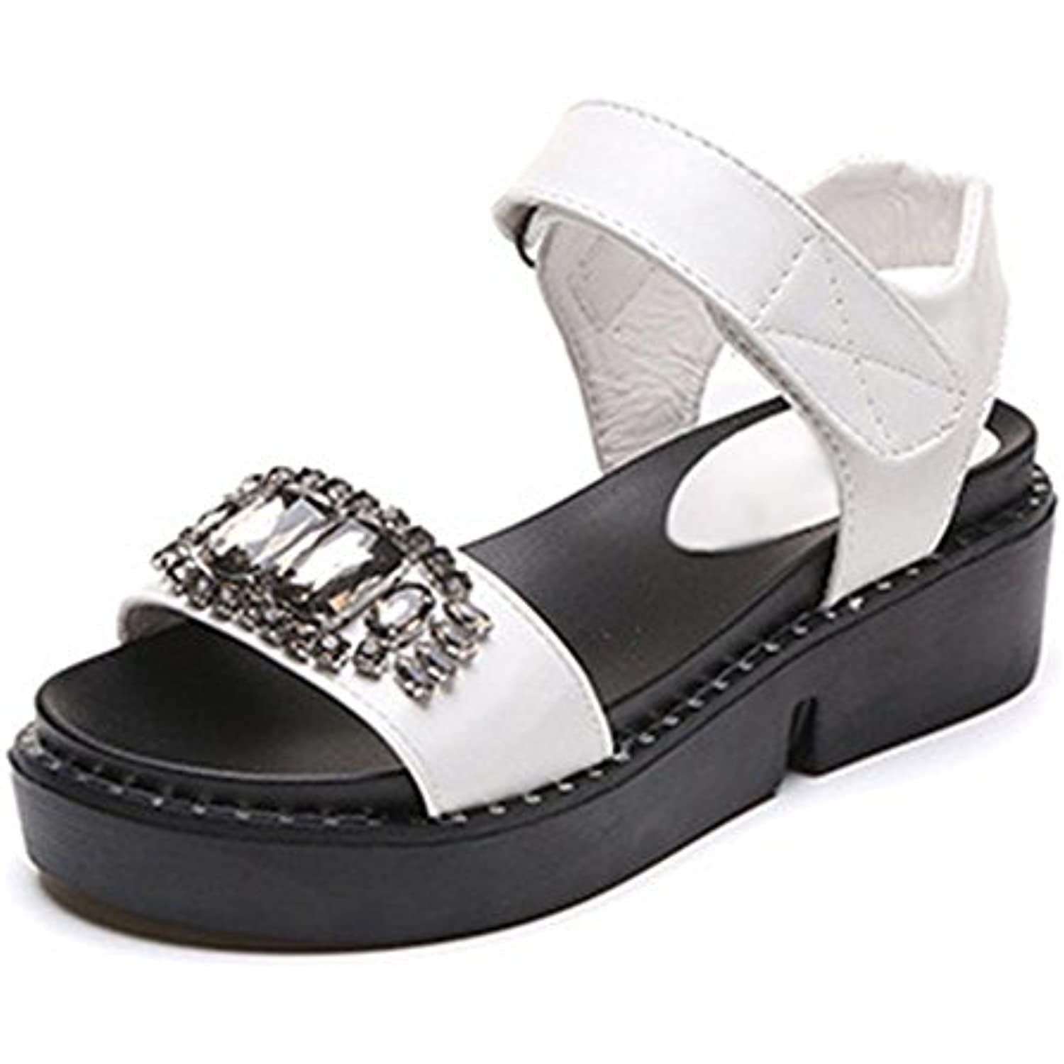 sandales d'été en pente de diamant avec une croûte B071XY8GL7 épaisse muffins sandales plates - B071XY8GL7 croûte - 2f66e7