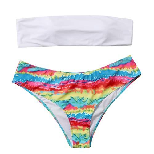 Kycut Frauen Blumendruck Strand Badeanzug Bademode Monokini Badeanzug Gepolsterter Sexy Bikini
